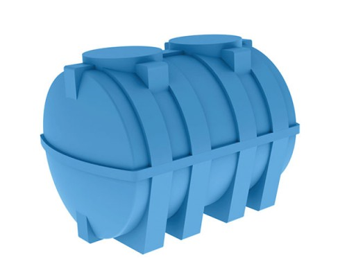 Бак горизонтальный для воды  и топлива 3000 литров