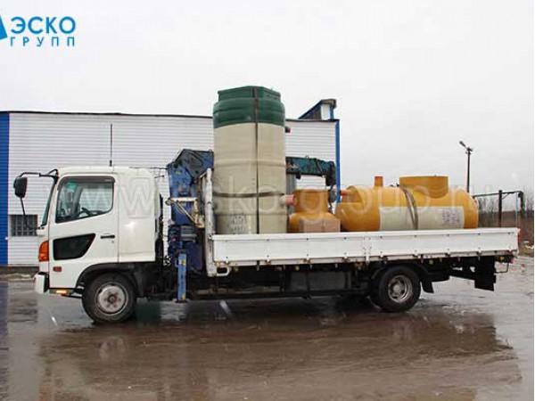 Доставка канализационной насосной станции и жироуловителя