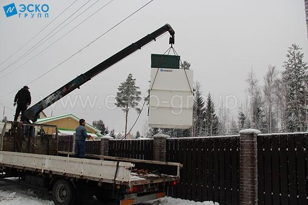 Разгрузка станции Астра-8 Миди