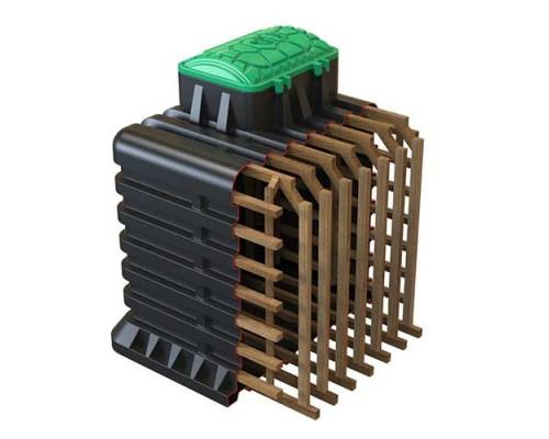Пластиковый бесшовный погреб TORTILA (Тортила) 2.0 серия Wood