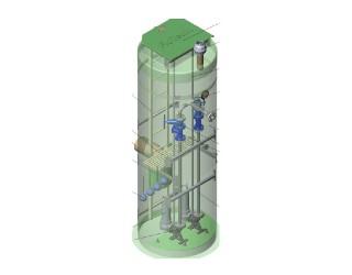 Flotenk КНС подземного исполнения с погружными насосами (классический вариант)